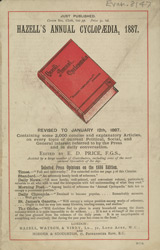 Advert For Hazell's Cyclopedia